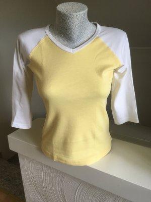 Shirt , Madonna, gelb- weiß, Größe 36, top Zustand
