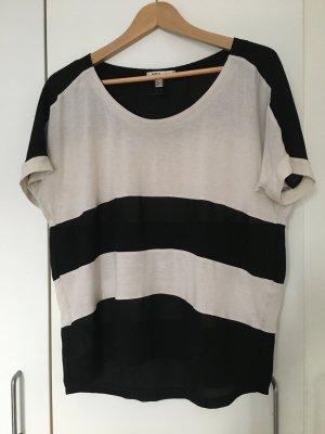 Shirt Mango schwarz weiß S