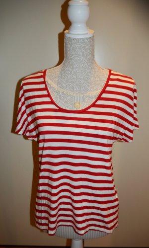 Marc O'Polo Camiseta rojo oscuro-blanco Viscosa