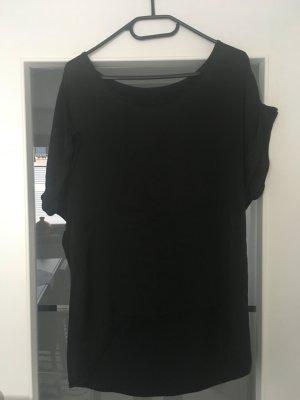 Shirt Materialmix Gr. 38 schwarz