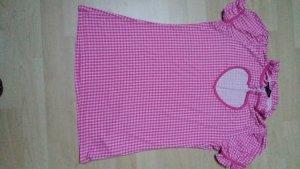 Shirt Melrose pink kariert mit Rüschen