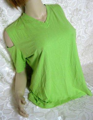 V-Neck Shirt green polyester