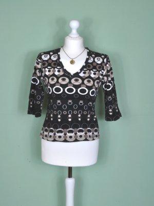 Shirt mit 3/4 Ärmeln und geometrischen Mustern