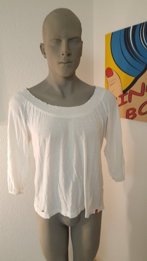 Esprit Top épaules dénudées blanc