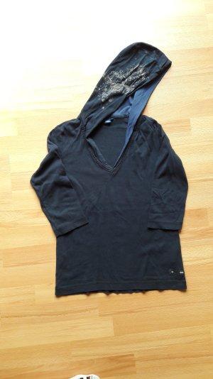 Shirt mit 3/4-Arm und Kapuze