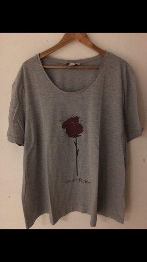 happy size Camiseta gris-rojo oscuro