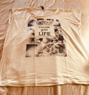 Shirt mit Aufdruck und Glitzer