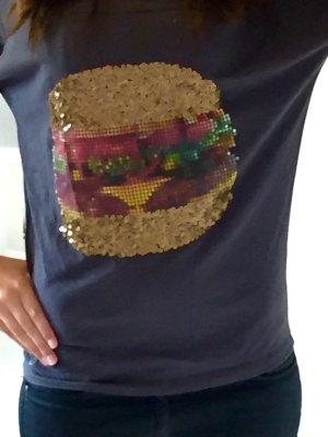 Shirt mit Aufdruck und Pailletten