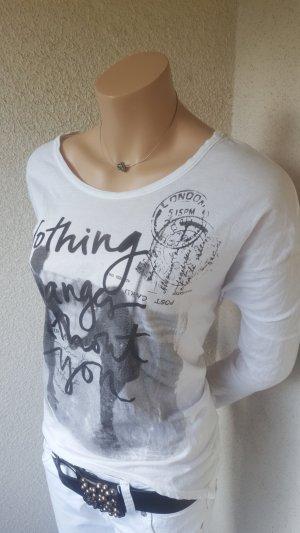 Shirt mit Aufdruck von Maryley - Gr. 38