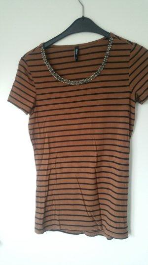 Shirt mit augestickten Perlenkragen Größe M