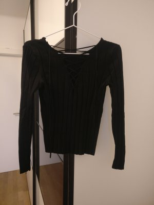 Bik Bok Ribbed Shirt black