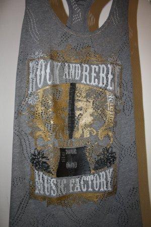 Shirt mit außergewöhnlichem Aufdruck - Gold/Silber