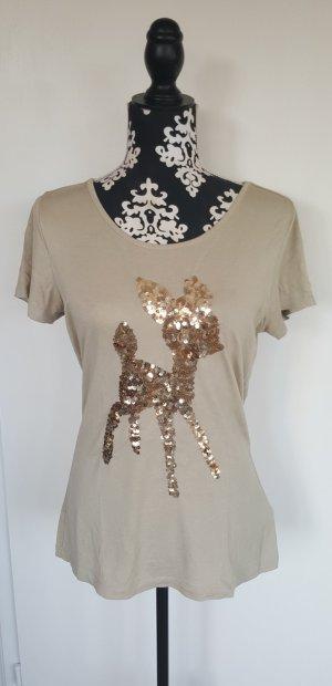 Ashley Brooke T-shirt oro-beige