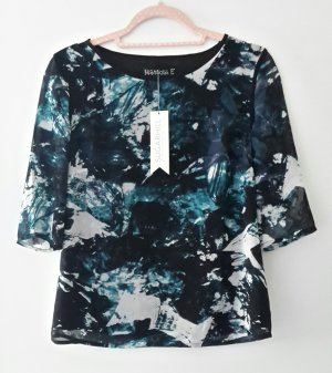 Sugarhill boutique Camisa larga blanco-azul oscuro