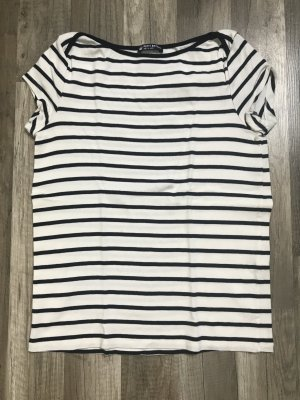 Petit bateau Stripe Shirt natural white-dark blue cotton