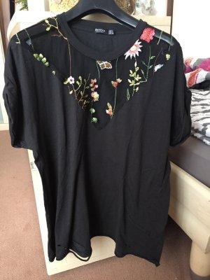 Shirt mit Blumenstickerei