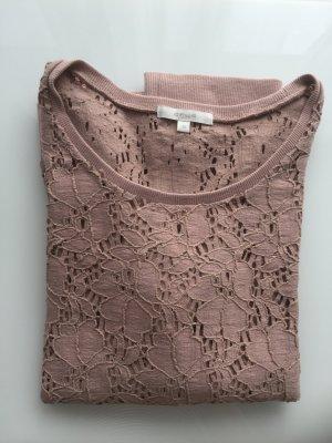 Shirt mit blumigem Lochmuster von Opus