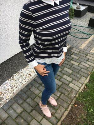 Shirt mit Bluse, gestreift , gr M , only