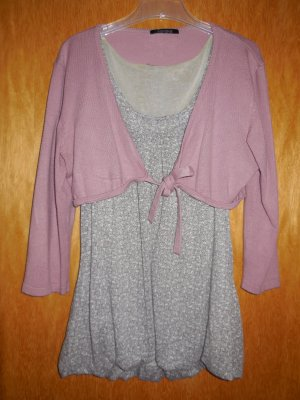Xanaka Sweater Twin Set pink-grey