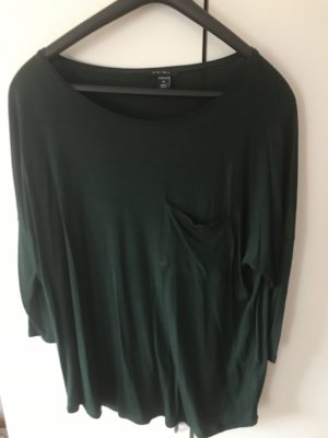 Amisu Lang shirt donkergroen