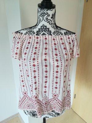 Reserved Camisa tipo Carmen crema