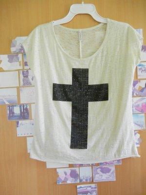 Shirt mit Cross Aufrdruck