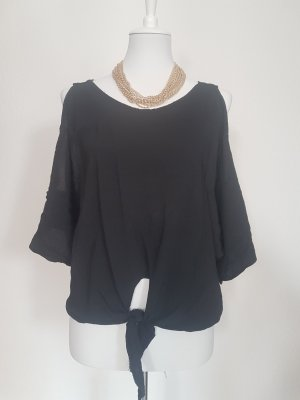 Zara One Shoulder Shirt black