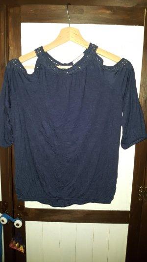 Shirt mit Cut-Outs und Spitzenbesatz von edc