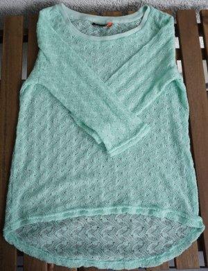 Only Top en maille crochet turquoise-bleu clair