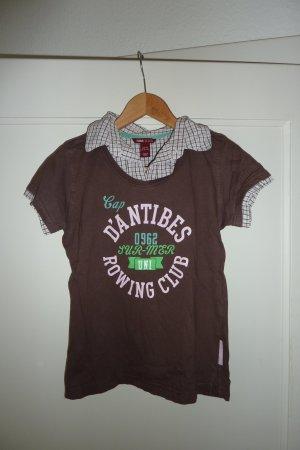 Shirt mit eingenähtem Blusenkragen
