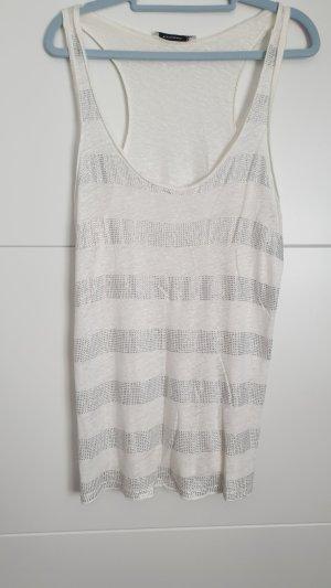 Shirt mit Glitzer in Gr. 38/40 Weiß