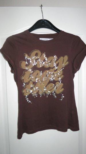 Shirt mit Glitzer und Pailletten