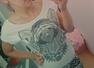 Shirt mit goldenem Tiger