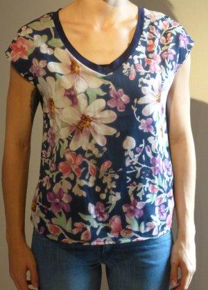 Shirt mit großem Blumendruck
