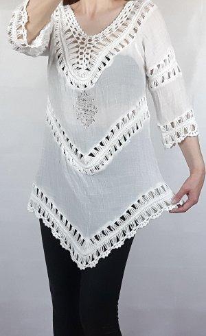 Colloseum Gehaakt shirt wit