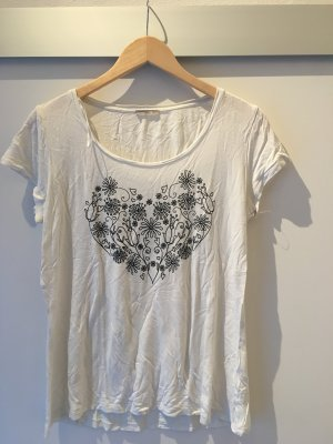 Orsay Camiseta blanco-negro