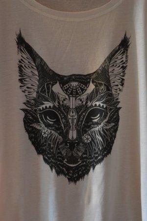 Shirt mit Katzenprint
