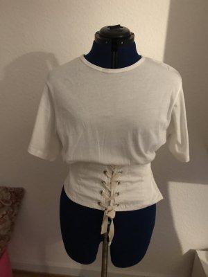 Zara T-shirt blanc cassé