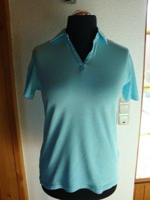 Shirt mit Kragen, türkis, Gr. 40