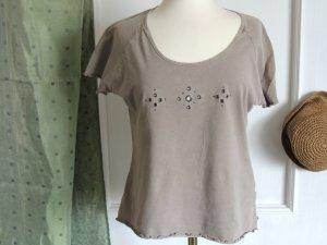 Shirt mit kurzen Ärmeln und Lochmuster