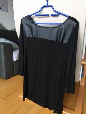 Shirt mit Ledereinsatz