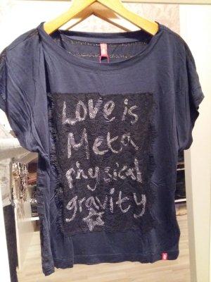 Shirt mit leichtem Fledermausarm Gr. S