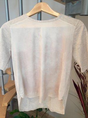 Shirt mit Materialmix