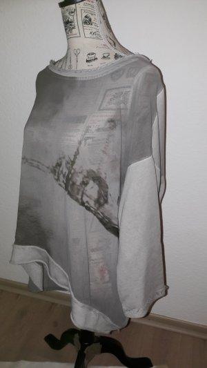 Shirt mit Materialmix von CPM, Größe 42