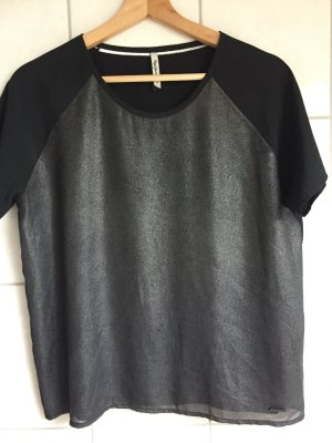 Pepe Jeans Camiseta negro-color plata