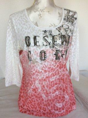 Shirt mit Metallplättchen und Perlen bestickt