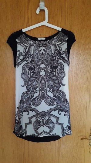 Shirt mit Muster schwarz weiß