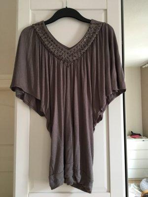 Blend V-hals shirt grijs
