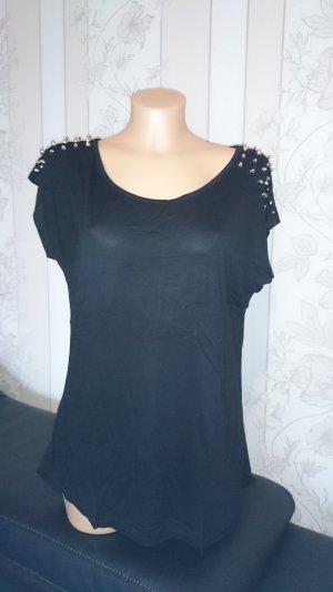 Shirt mit Nieten von Laura Scott in schwarz