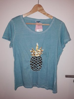 Blue Motion T-Shirt turquoise cotton